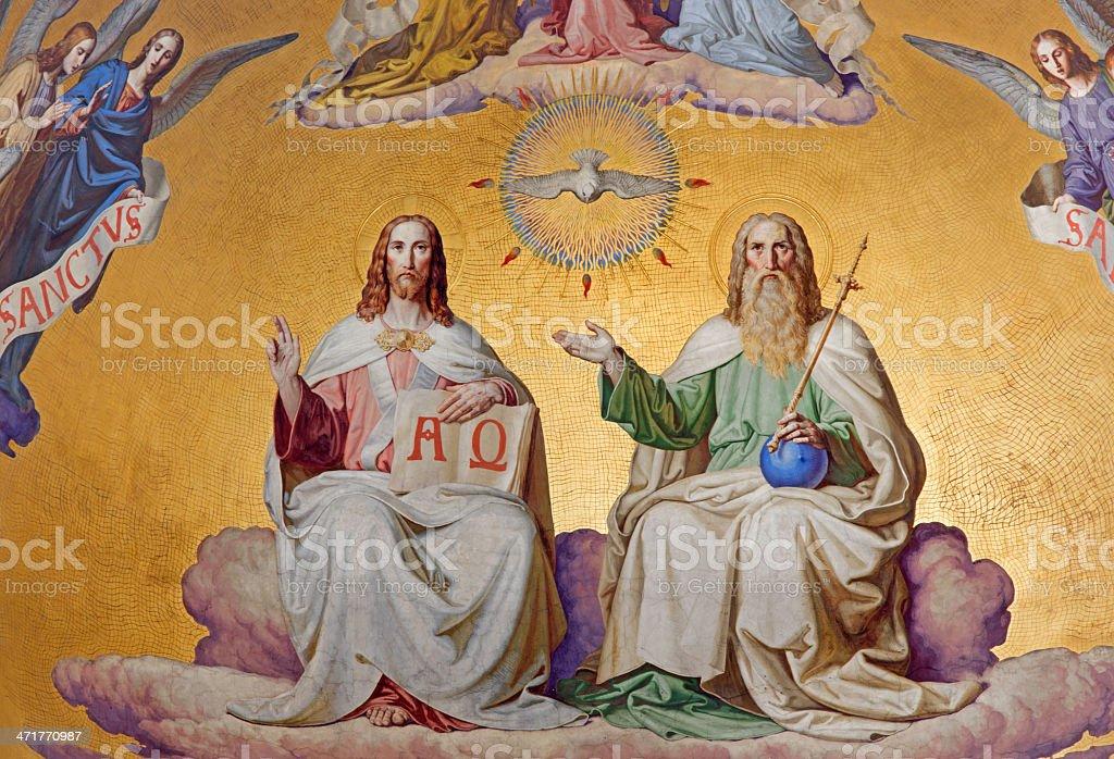 Vienna - Holy Trinity in main apse of Altlerchenfelder church royalty-free stock photo