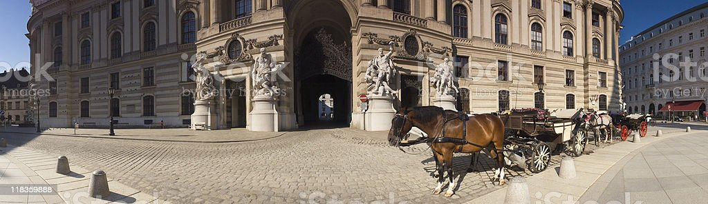 Vienna horse drawn carriages. stock photo