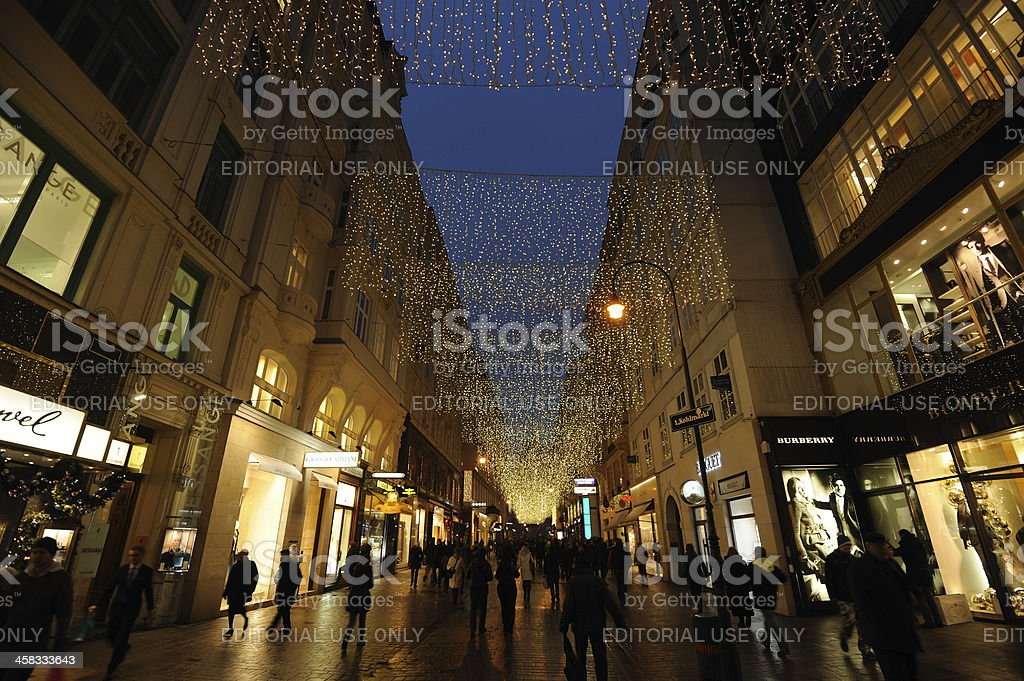 Vienna in December stock photo