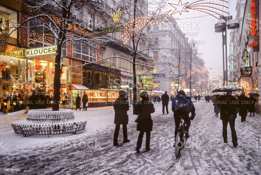 Vienna in Winter stock photo