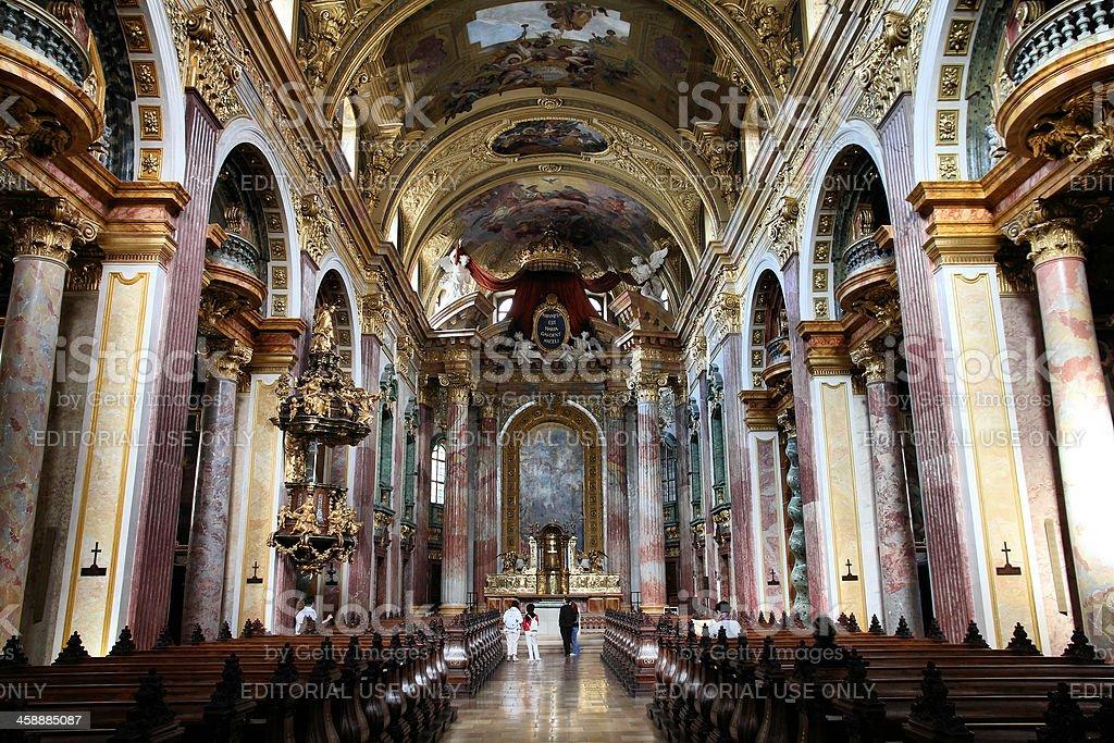 Vienna - Jesuits Church royalty-free stock photo