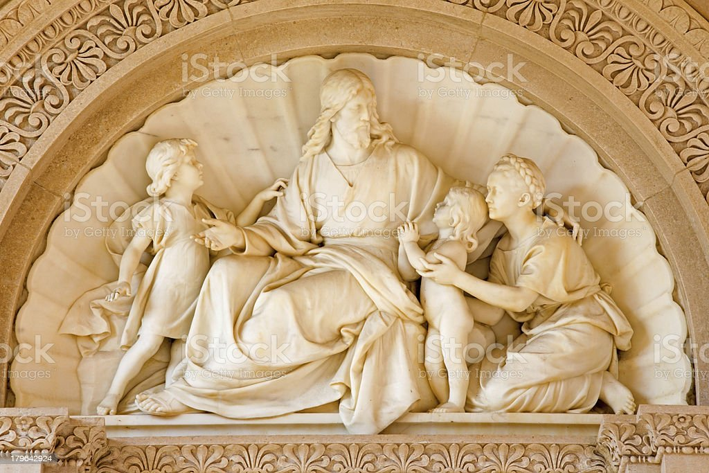 Vienna -  Jesus and the children. royalty-free stock photo