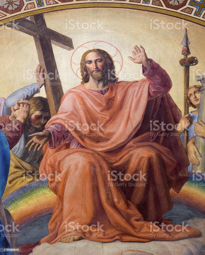 Vienna - Jesus Christ from Last judgment scene royalty-free stock photo