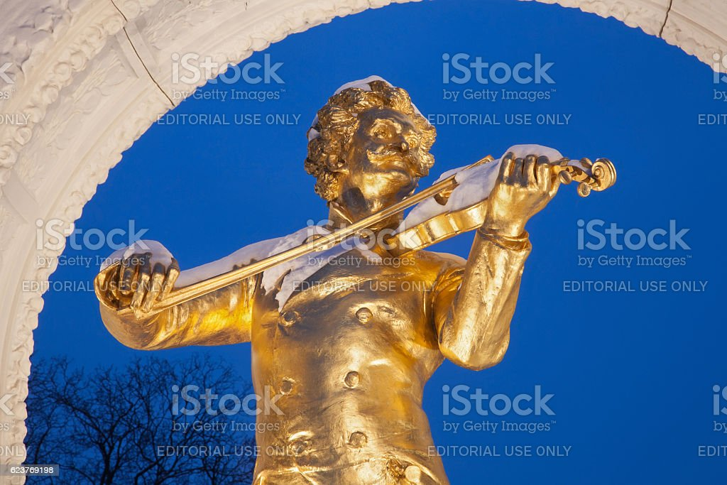 Vienna- Johann Strauss II bronze memorial stock photo