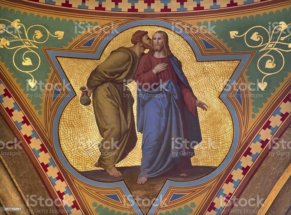 Vienna - Judas betray Jesus with the kiss stock photo