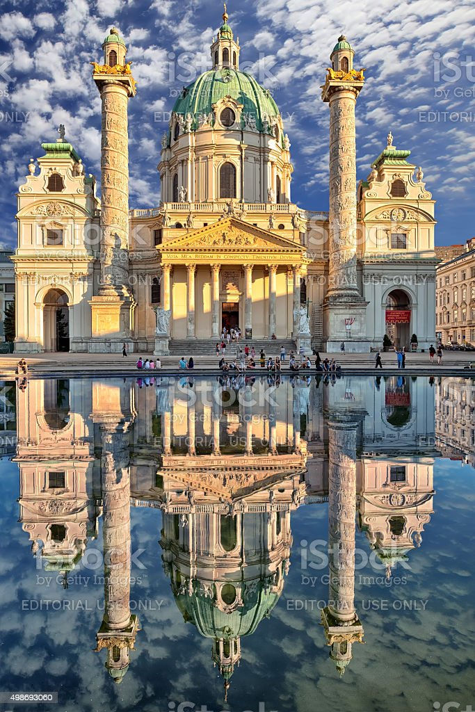Vienna, Karlskirche(St. Charles's Church) stock photo