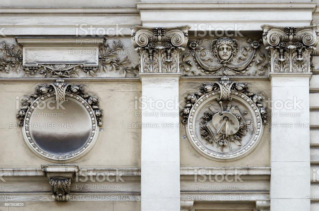 Vienna Kunstlerhaus, detail of the facade stock photo