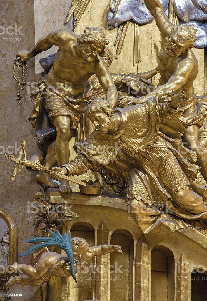 Vienna -  Martyrium of st. John the Nepomuk stock photo