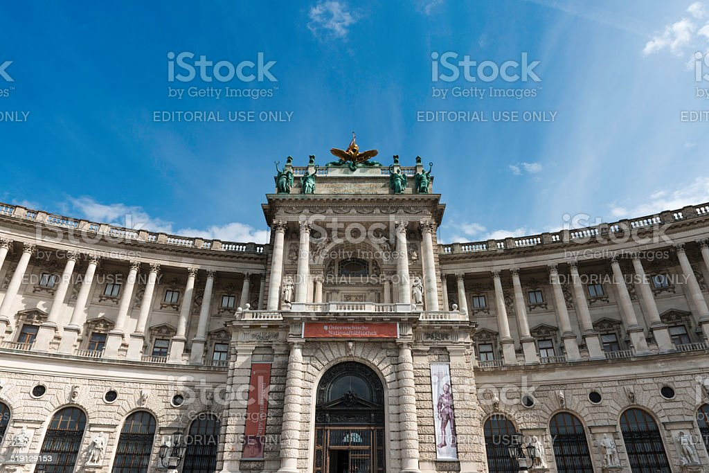 Vienna National Library andHofburg complex stock photo