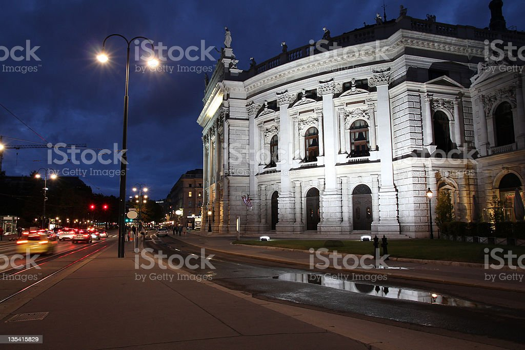 Vienna night stock photo