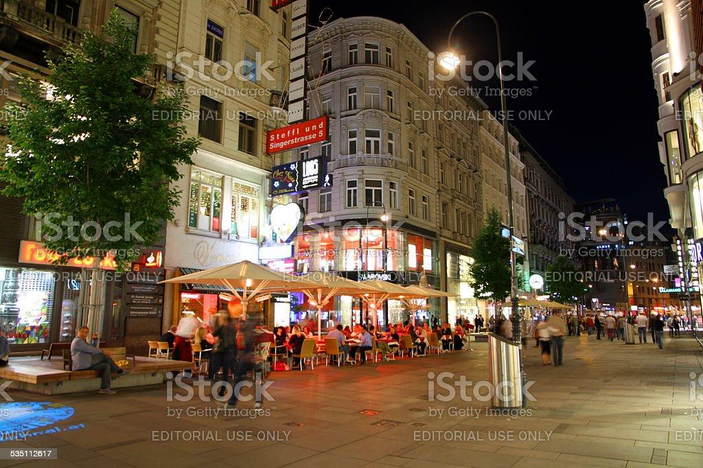 Vienna Nightlife stock photo