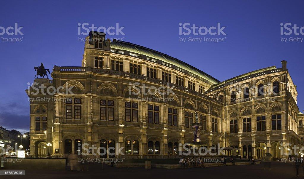 Vienna opera house at dusk. royalty-free stock photo