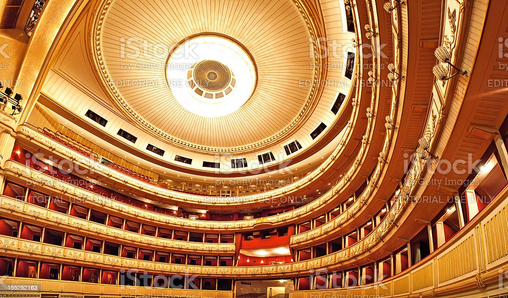 Vienna Opera interior royalty-free stock photo