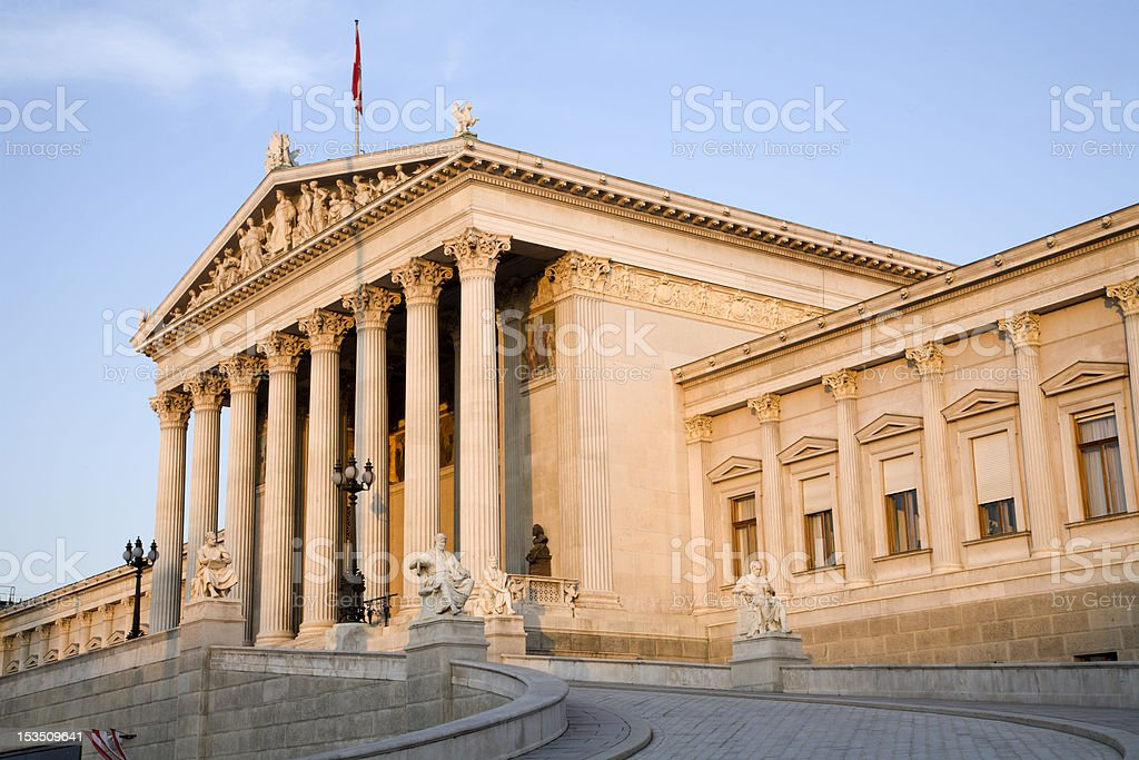 Vienna - parliament in morning light stock photo