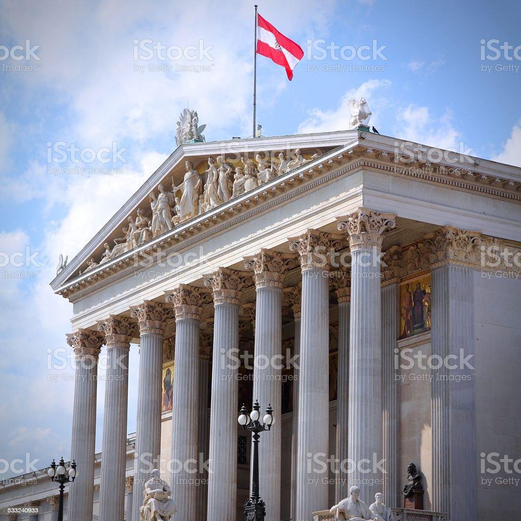Vienna Parliament stock photo
