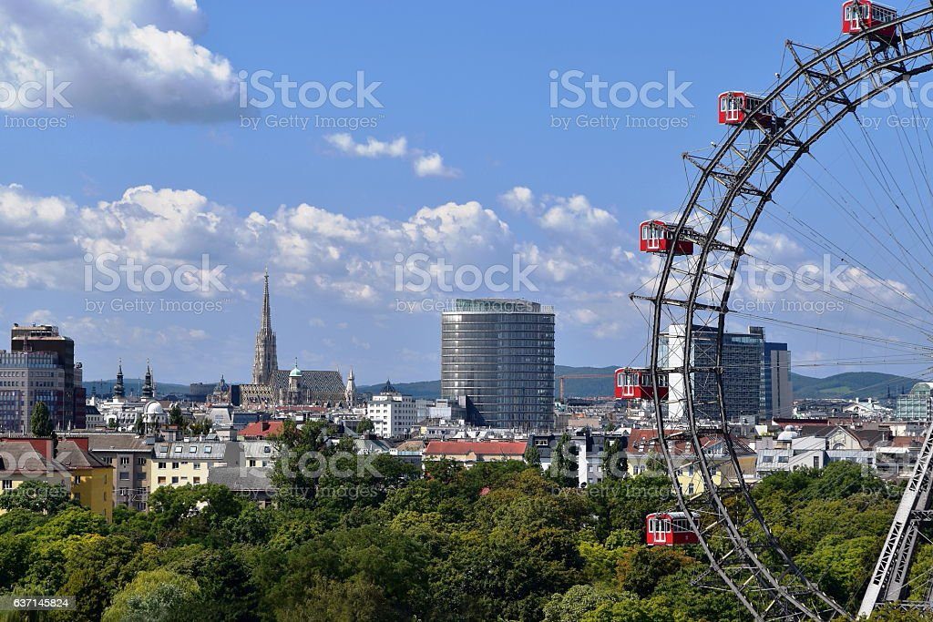 Vienna postcard stock photo