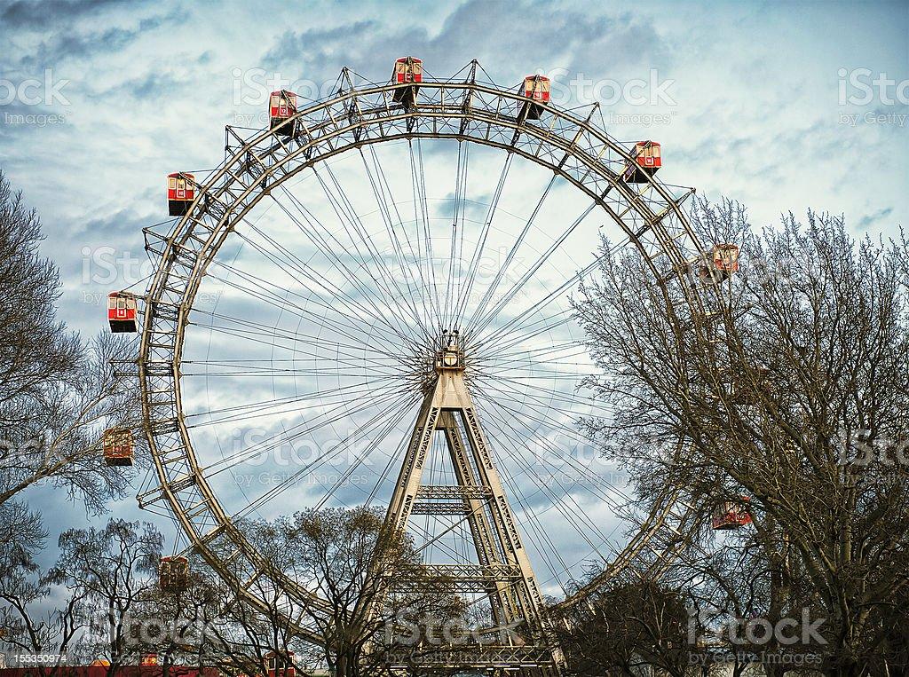 Vienna Riesenrad (Giant Ferris Wheel) at Prater stock photo