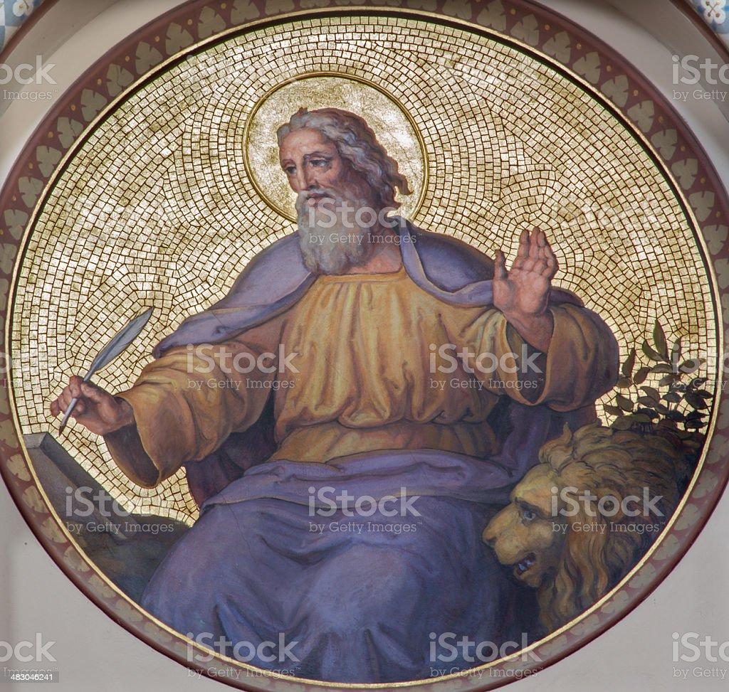 Vienna - Saint Mark the Evangelist in Carmelites church stock photo