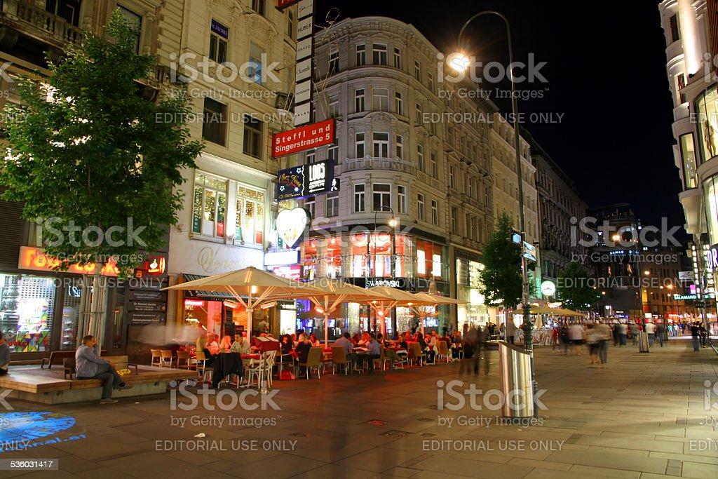 Vienna Shopping Street stock photo
