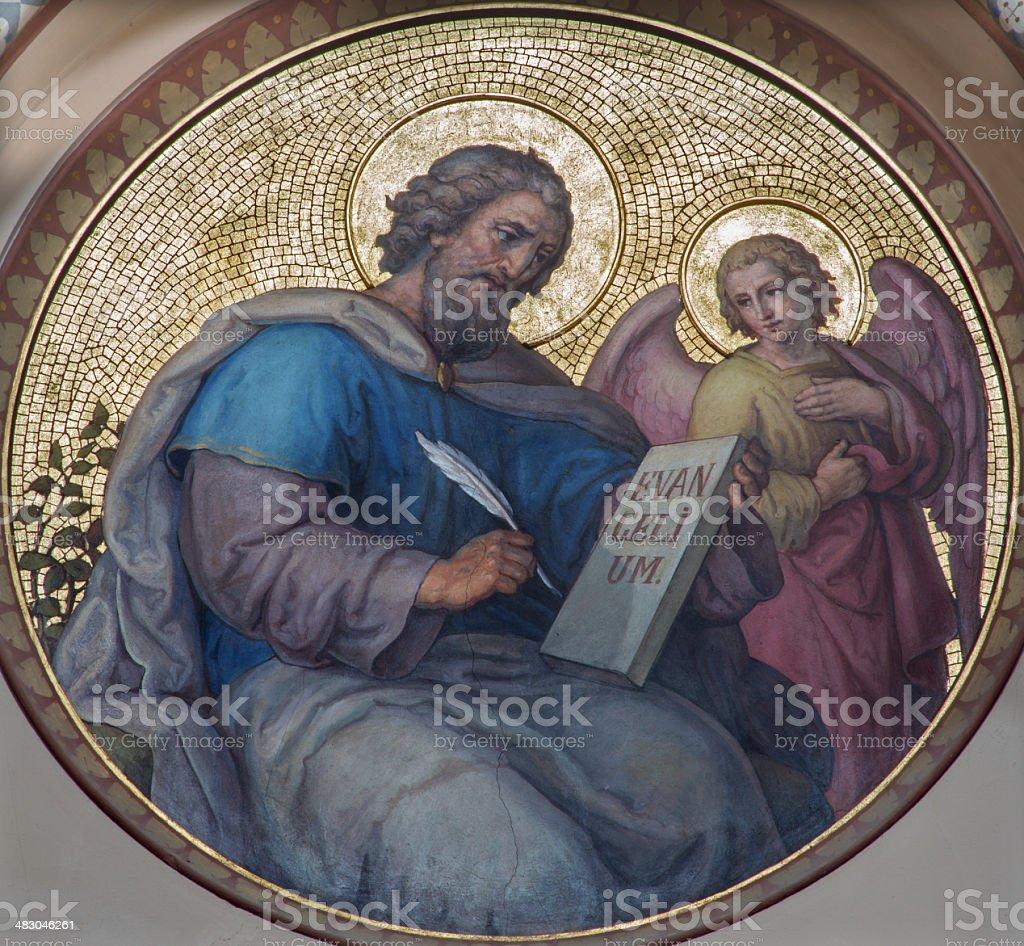 Vienna - St. Matthew the Evangelist in Carmelites church stock photo
