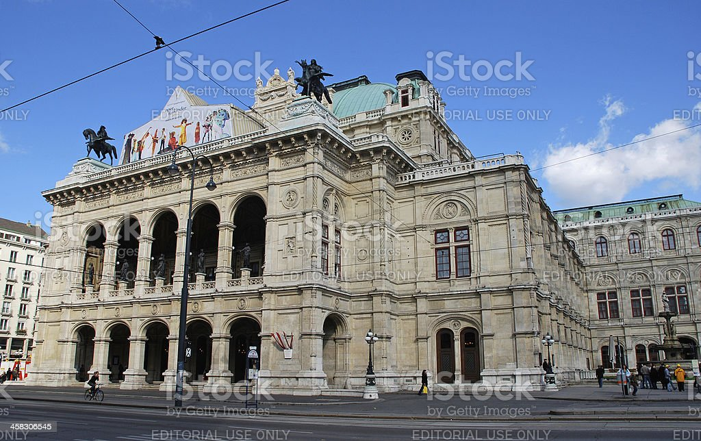 Vienna State Opera, Austria stock photo