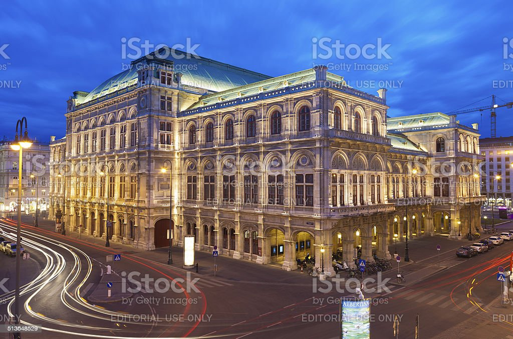Vienna State Opera House stock photo