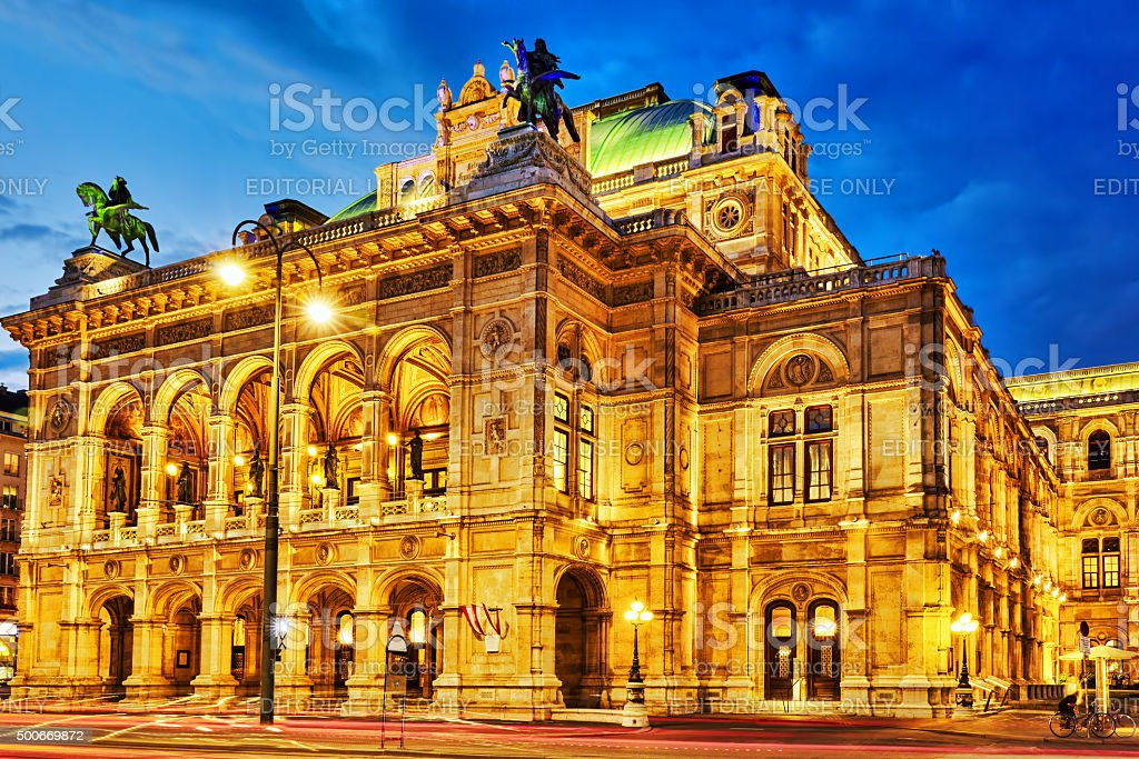 Vienna State Opera. stock photo