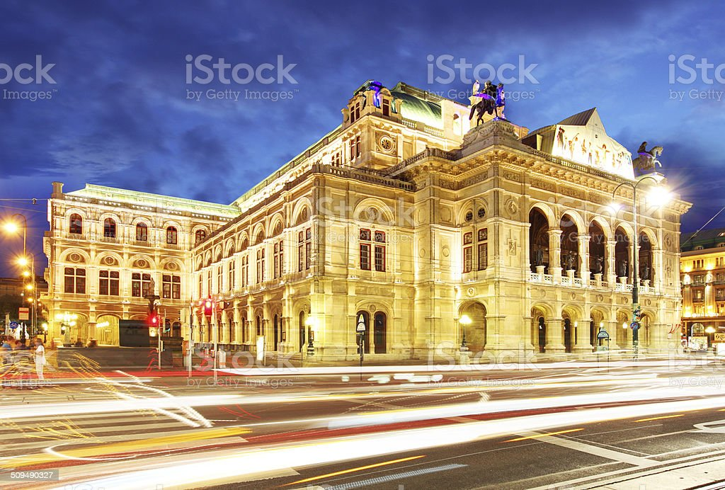 Vienna state opera stock photo