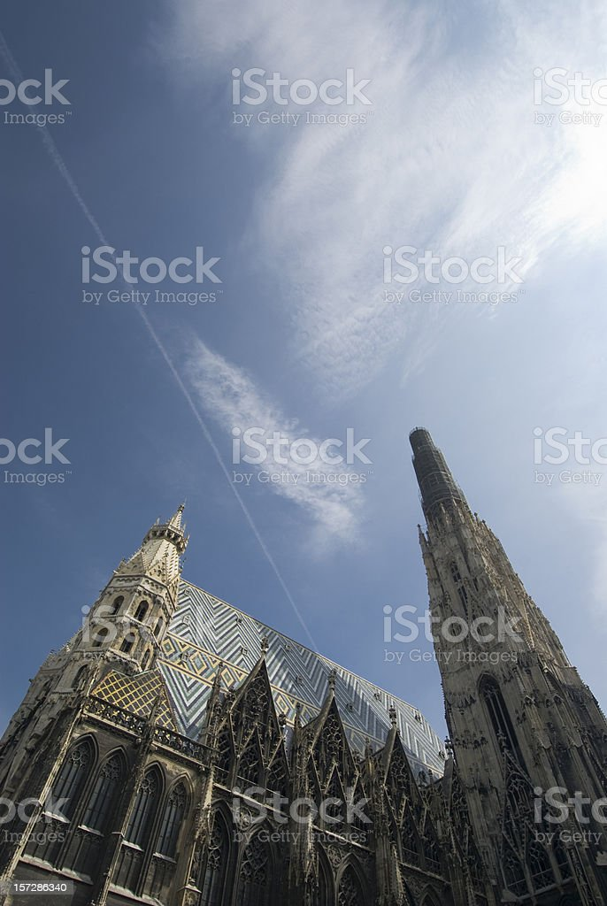 Vienna Stepahansdom stock photo