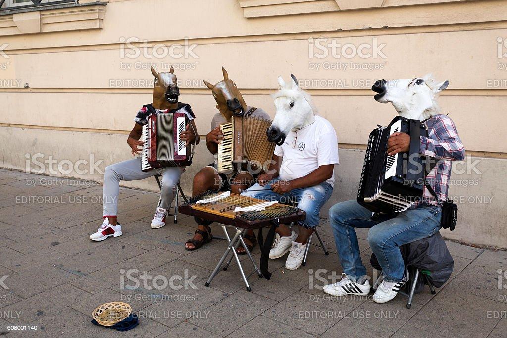 Vienna Street Music stock photo