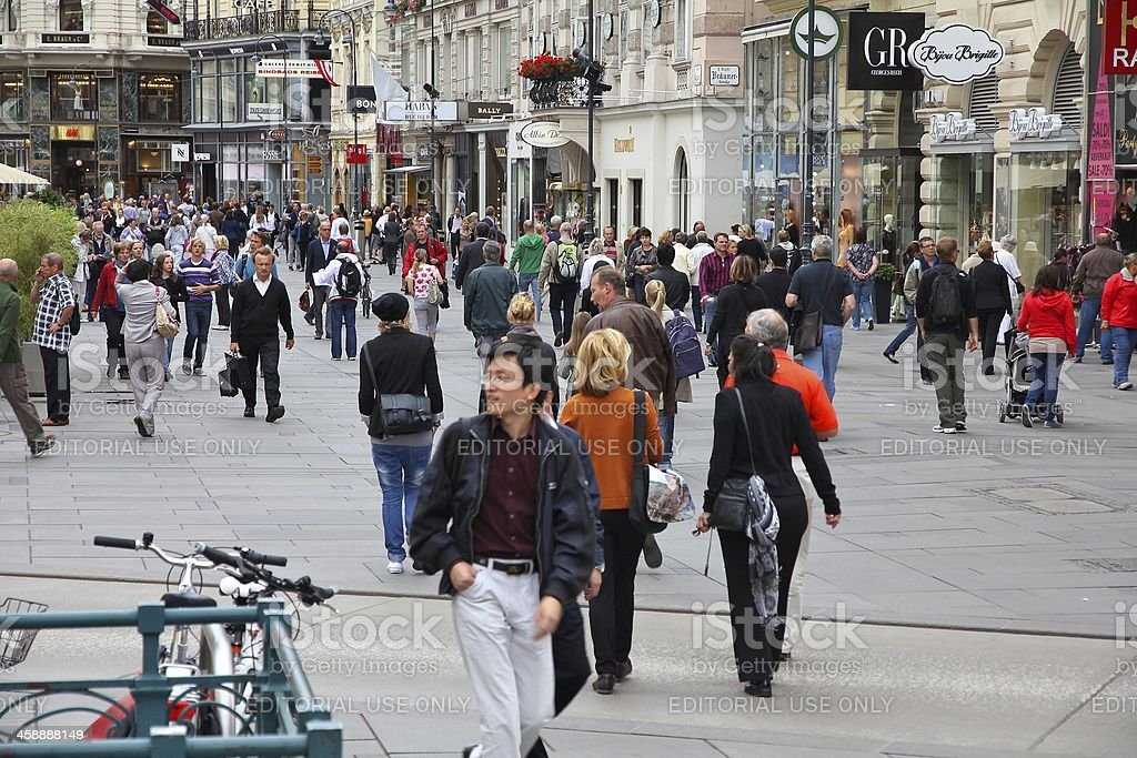 Vienna tourists stock photo