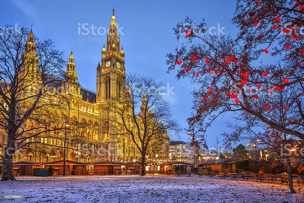 Vienna town hall royalty-free stock photo