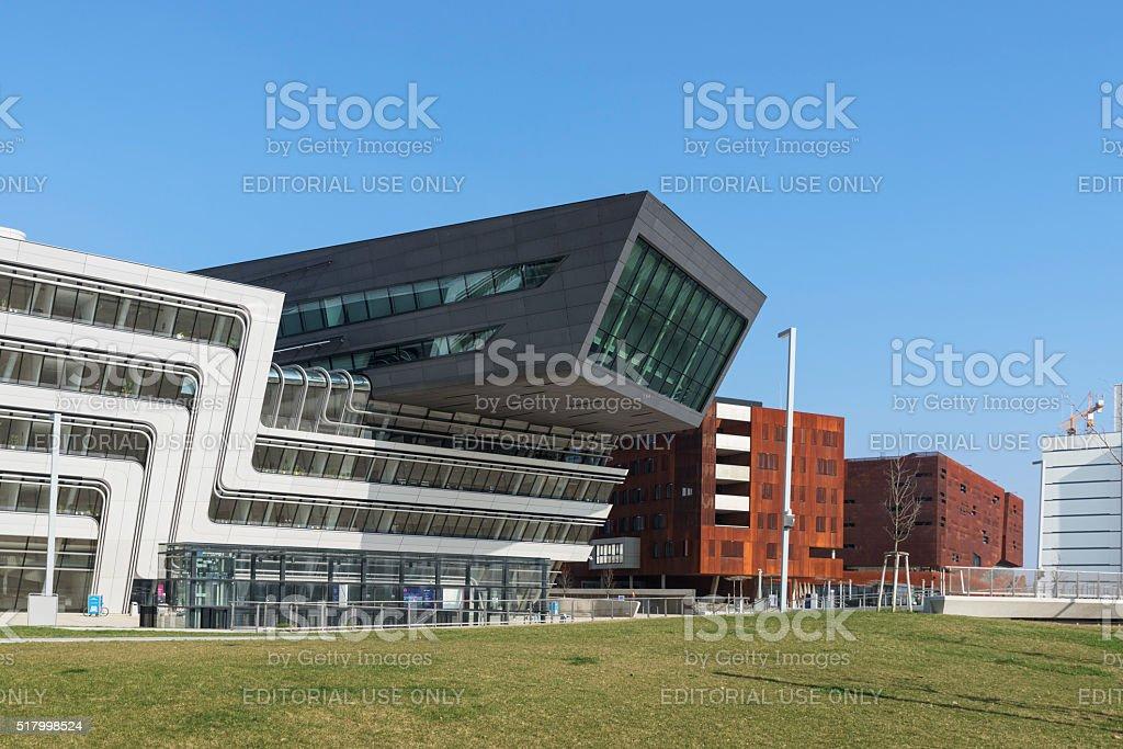 Vienna University of Economics and Business, Campus WU, Austria stock photo