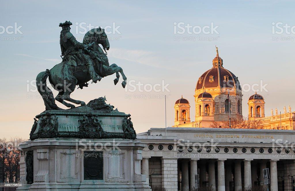 Vienna / Wien, Austria - Horse and rider memorial. stock photo