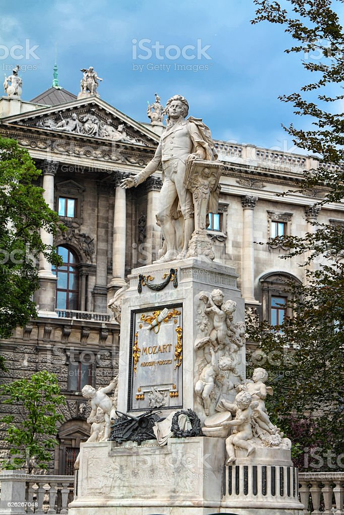 Vienna.Mozart monument royalty-free stock photo