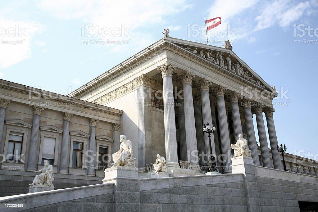 Vienna's Parliament stock photo
