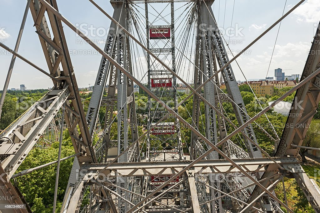 Vienna's Prater - The Giant Ferris Wheel royalty-free stock photo