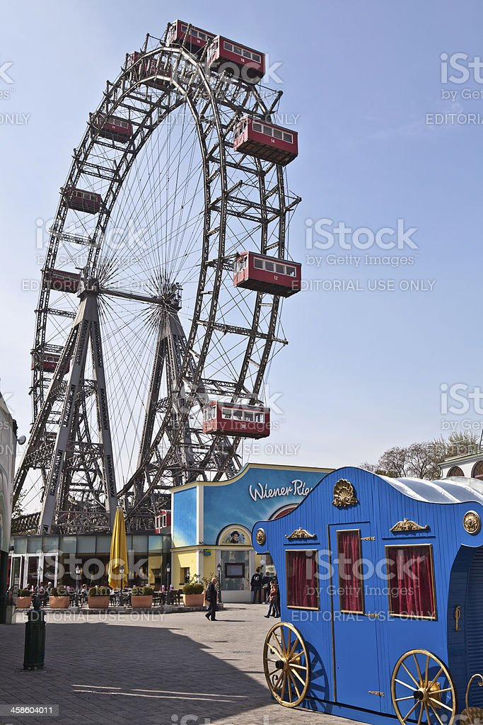 Viennese giant wheel royalty-free stock photo