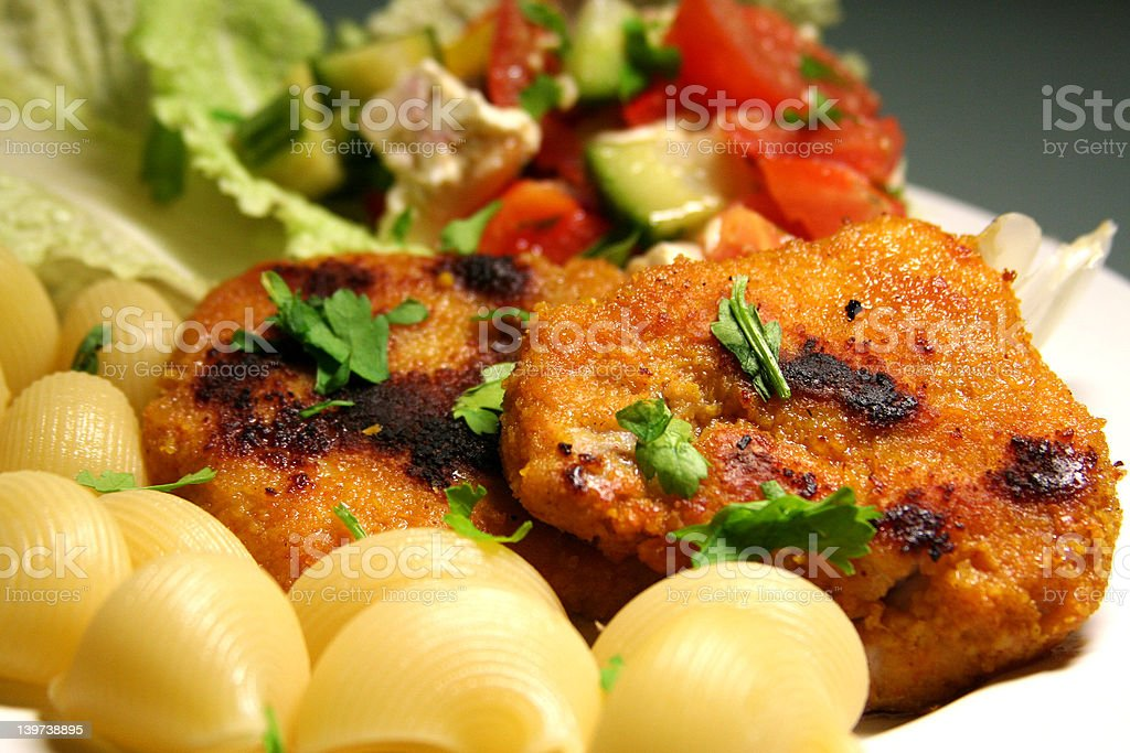 viennese schnitzel (escalope) royalty-free stock photo