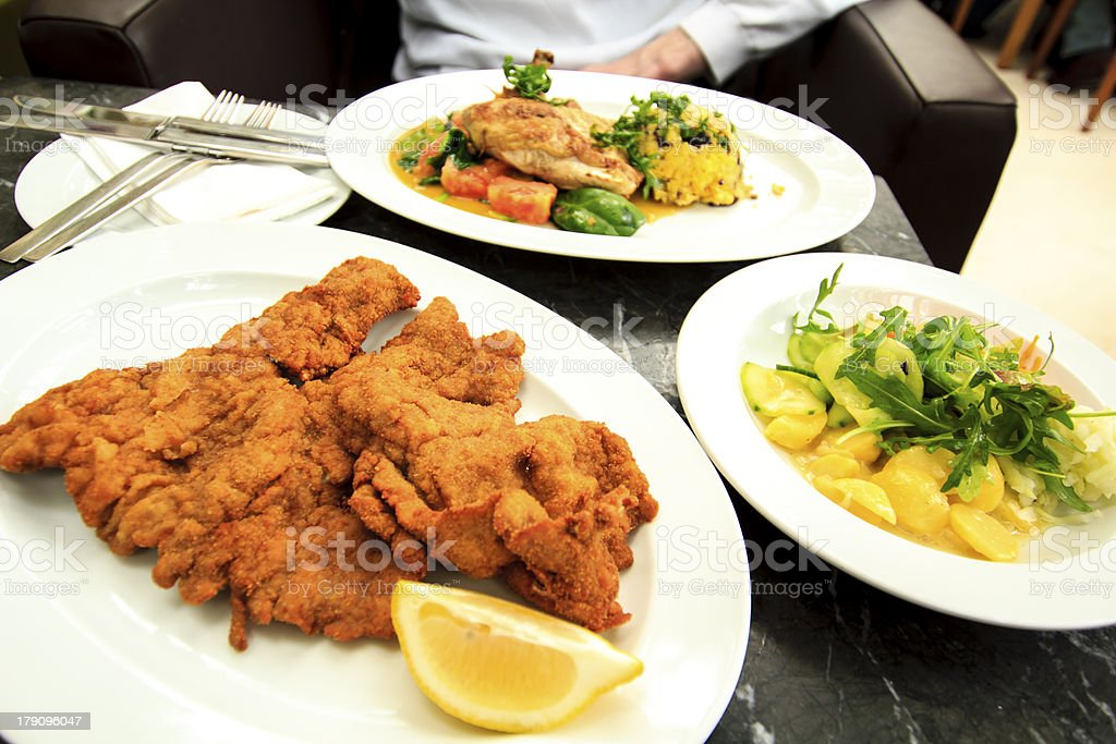 Viennese schnitzel royalty-free stock photo