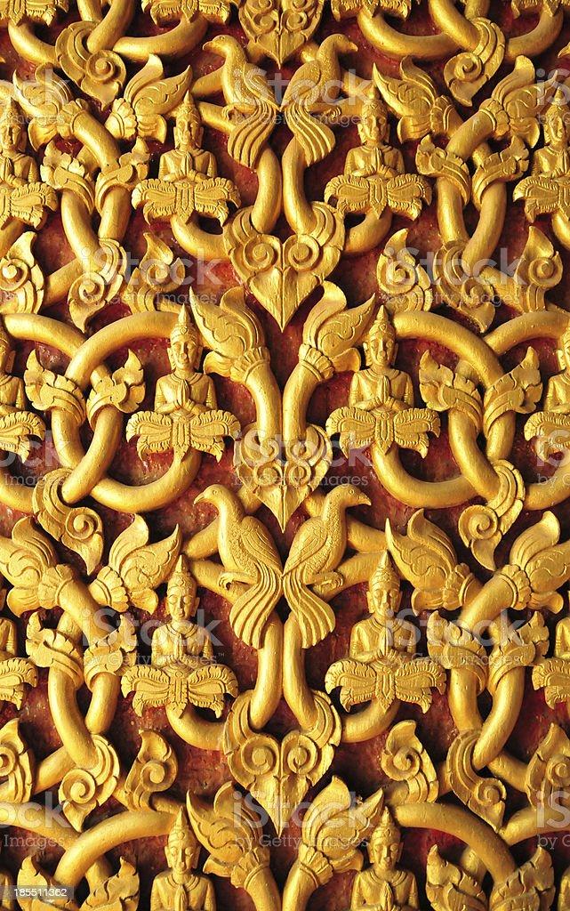 Vientiane, Laos: intricate facade decoration stock photo
