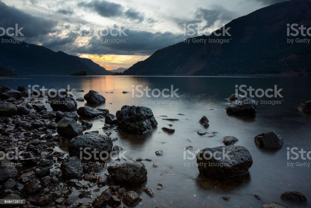 Viento Columbia River stock photo