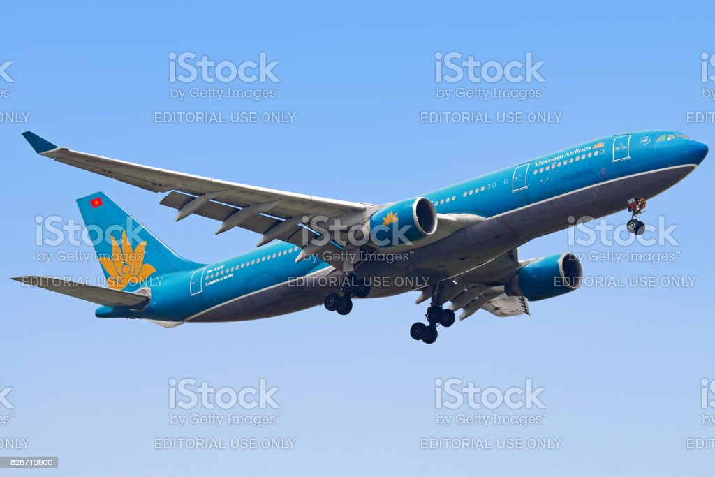 Vietnam Airlines aircraft stock photo