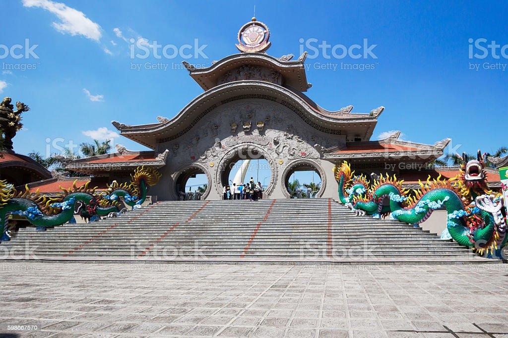 Vietnam. Architecture of Ho Chi Minh city. stock photo