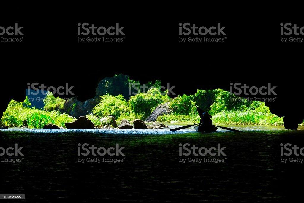 Vietnam- baie d'halong terreste, Tam Coc, Ninh Binh, rivière stock photo