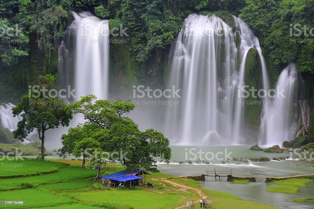 Vietnam Ban Gioc(Banyue )Waterfall royalty-free stock photo