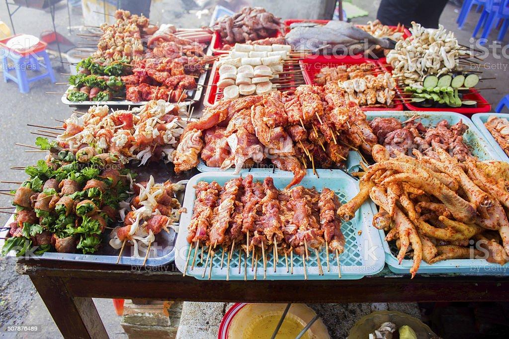 vietnam bbq street food stock photo