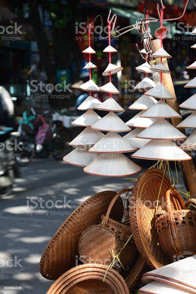 Vietnam conical hat stock photo