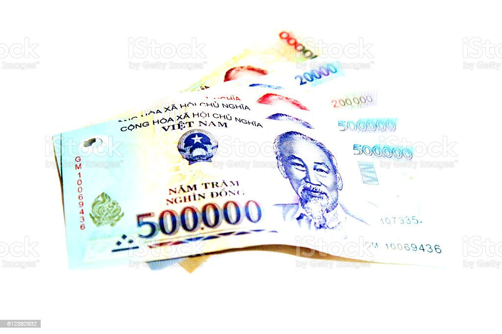 Vietnam dong banknote stock photo