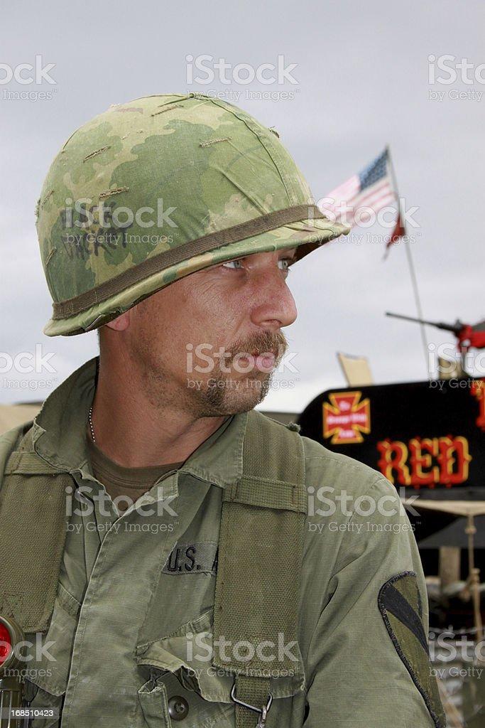 Vietnam Era Soldier. royalty-free stock photo